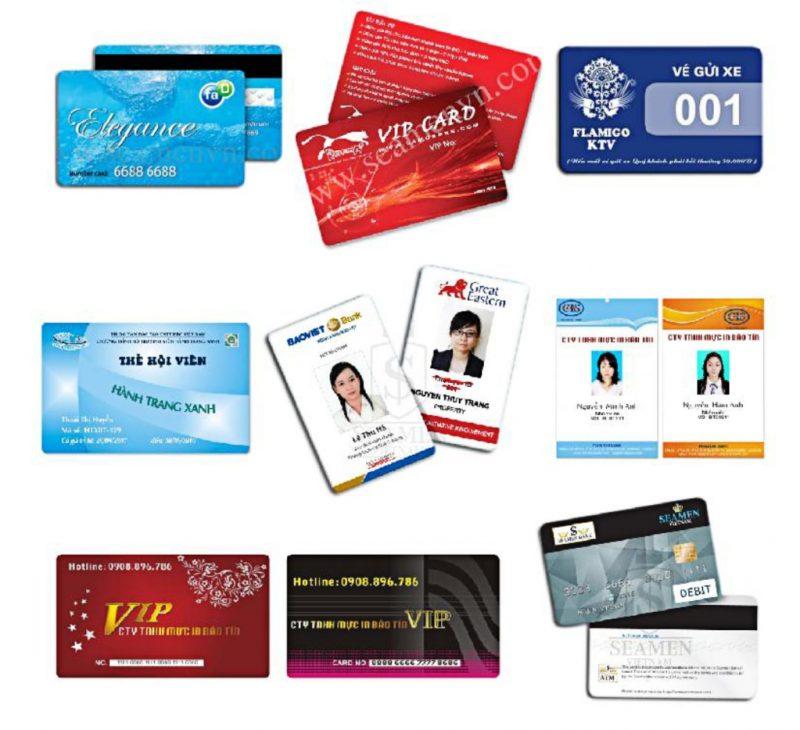 Đa dạng về mẫu thiết kế trong in thẻ nhựa